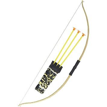 NET TOYS Flecha y Arco Set de Arquero Accesorios Disfraz Cazador Arco de Juguete Accesorios bélicos Complemento Traje Robin Hood: Amazon.es: Juguetes y ...