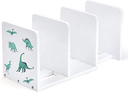 Sconto Reggilibri Regolabile Supporto per Libri Supporto per Libri Retrattile Multi Scomparti con portapenne Desktop Organizer Home Office-Bianca BCXD411