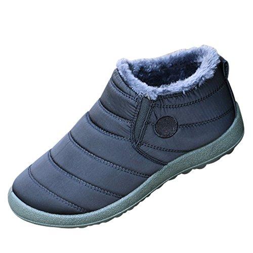 da Boots nero Piatto Stivaletti Invernali Caldo Sneakers Unisex Sportive Scarpe Adulto Moda Donna Uomo Caviglia XFentech Uomo Neve Stivali HfHpt
