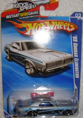 2010 HOT WHEELS MUSCLE MANIA KEYS TO SPEED CARD 03/10 SILVER