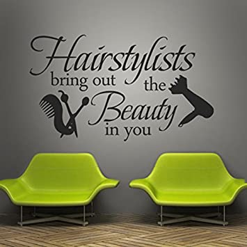 Amazoncom Vinyl Wall Lettering Words Wall Quotes Salon Wall - Custom vinyl wall decals for hair salonvinyl wall decal hair salon stylist hairdresser barber shop