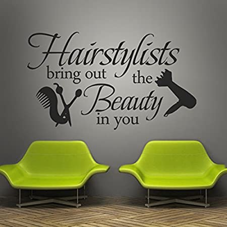 vinyl wall lettering words wall quotes salon wall decal hair salon