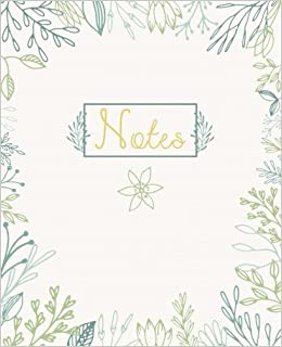 Cute Notebook: Graphic Flowers Notebook Daily Journal, College Ruled