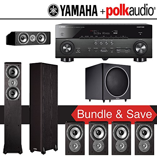 Polk audio tsi 300 7 1 ch home theater system with yamaha for Yamaha 7 2 home theatre system