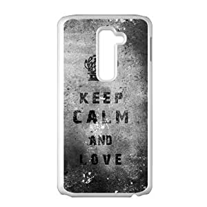Unique Phone Cases LG G2 Cell Phone Case White Keep Calm And Love Vcuet Plastic Durable Cover