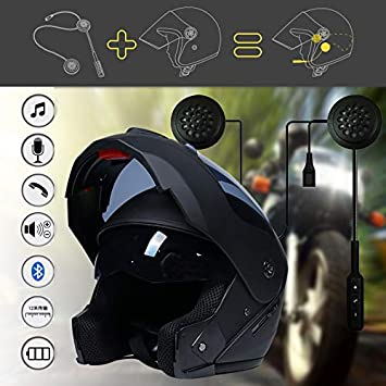 Amazon.com: Mophoto - Casco integral para motocicleta con ...