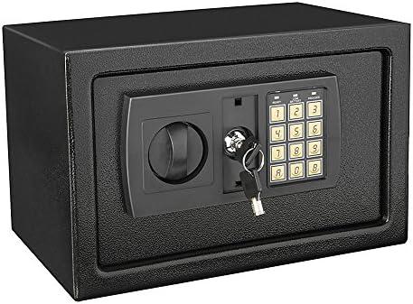 Caja de seguridad caja 8,5 litros casa dinero efectivo seguro Digital con llave de bloqueo oficina en casa Depósito grande: Amazon.es: Bricolaje y herramientas