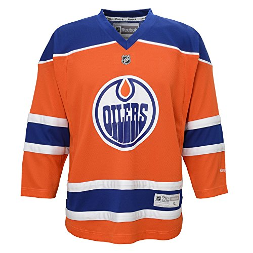 NHL Edmonton Oilers Boys 8-20 Third/Alternate Color Replica Jersey, Giant/X-Giant, Orange – DiZiSports Store