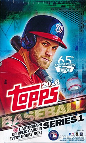 2016 Topps Series 1 MLB Baseball MASSIVE 36 Pack Factory Sealed HOBBY Box with 360 Cards & AUTOGRAPH or GAME USED RELIC Card Plus (2) Stamped Buyback Cards! Loaded with Cool Inserts & New Rookie Cards