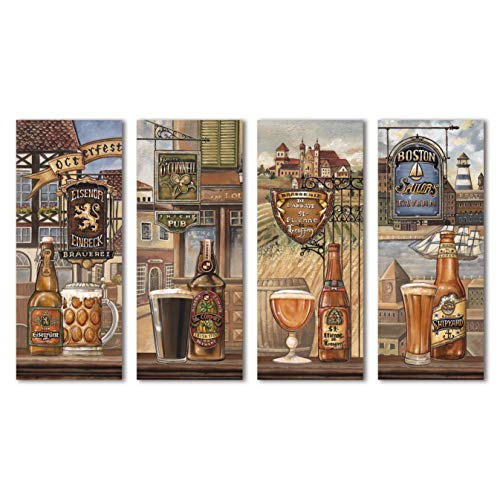 Beautiful Vintage American, German, Belgium, & Irish Beer Signs; Four 8x20 Giclee Prints; Higher Quality Paper and Printing Than a Normal Poster
