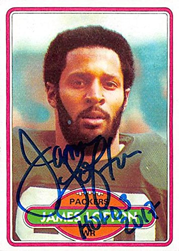 (James Lofton autographed football card (Green Bay Packers Hall of Fame) 1980 Topps #78 inscribed HOF 03)