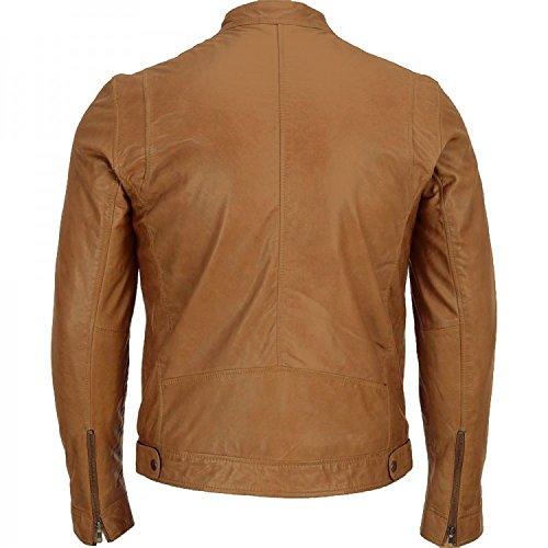 Mens' Jacket Style Slimfit Quality Leather Motercycle Geniune Classic Hi 8rw8Ha
