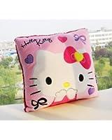 "U-beauty Pink Hello Kitty Face Square 14""x14"" Cushion Pillow"