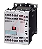 Siemens 3RH11 40-2BB40 Control Relay Size S00 35mm Standard Mounting Rail DC Operation Cage Clamp Connection 40 E Identification Number 4 NO Contacts 24VDC Control Supply Voltage