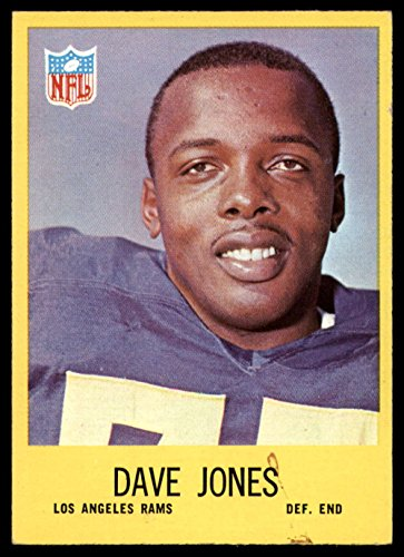 1967 Philadelphia # 90 Deacon Jones Los Angeles Rams (Football Card) Dean's Cards 7 - NM