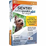 SENTRY Fiproguard Plus Flea and Tick Topcial for Dogs, 4-22 lbs, 3 Month Supply