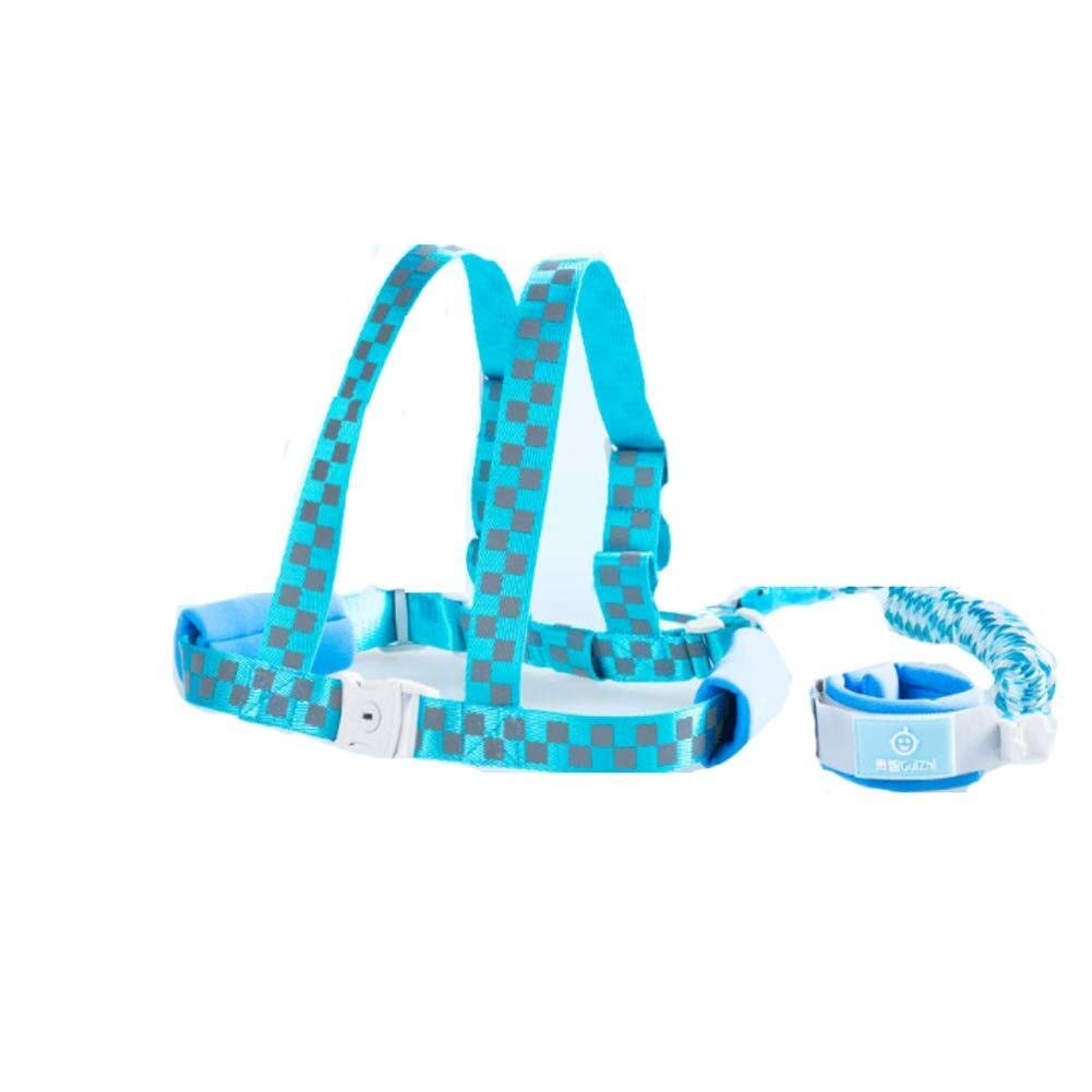 Anti-Lost Belt Baby Belt Strap - Children Anti-Lost Traction Rope Hand Ring Safety Belt (Color : Blue)
