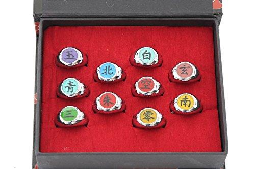 Naruto-Akatsuki-Uchiha-Itachi-Cosplay-Anime-Collectable-Ring-Set-10pcs