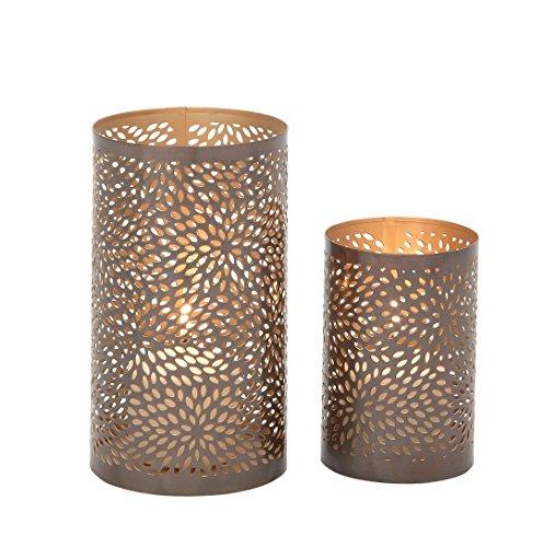 (Deco 79 37034 Designer Metal Candle Lantern, Set of 2)