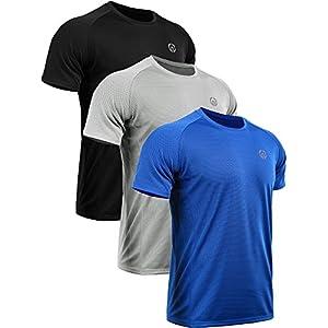 Neleus Men's Dry Fit Mesh Athletic Shirts 26