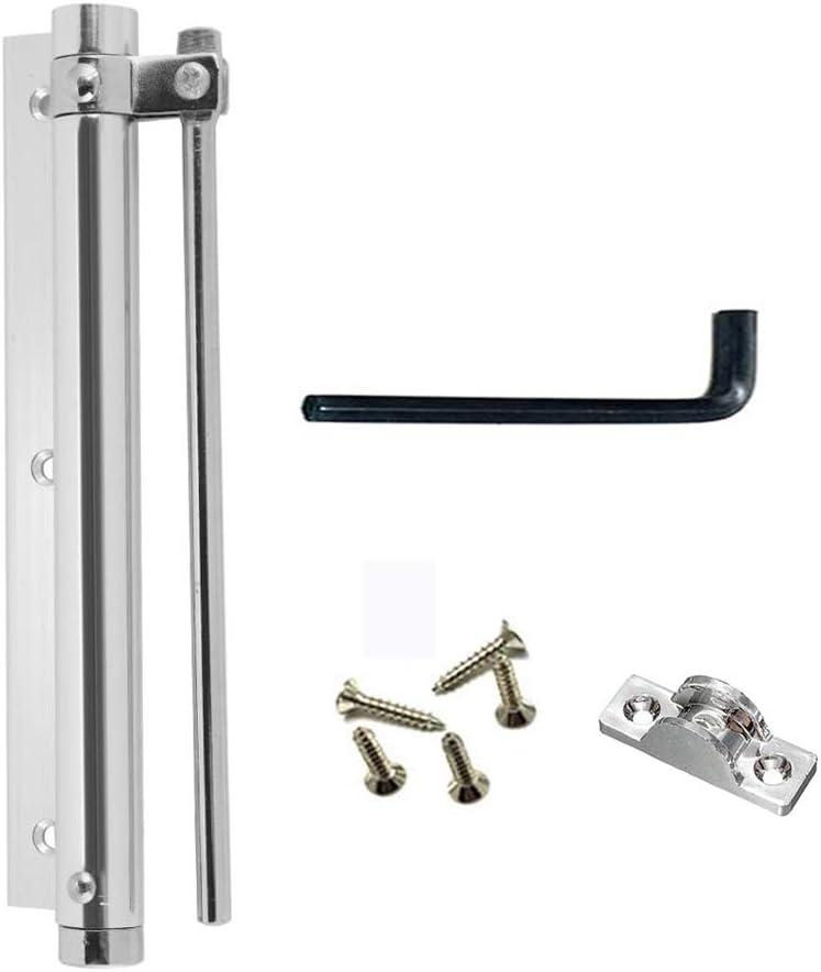 Cierrapuertas Automáticos,Cierrapuertas De Aluminio Ajustable Comercial Ideal Para Instalar en Las Puertas de Maderay Metal