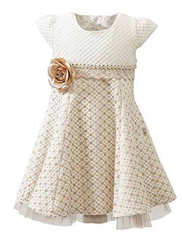Lilax Little Girls' Sparkle Polka Dot Twirl Dress 6