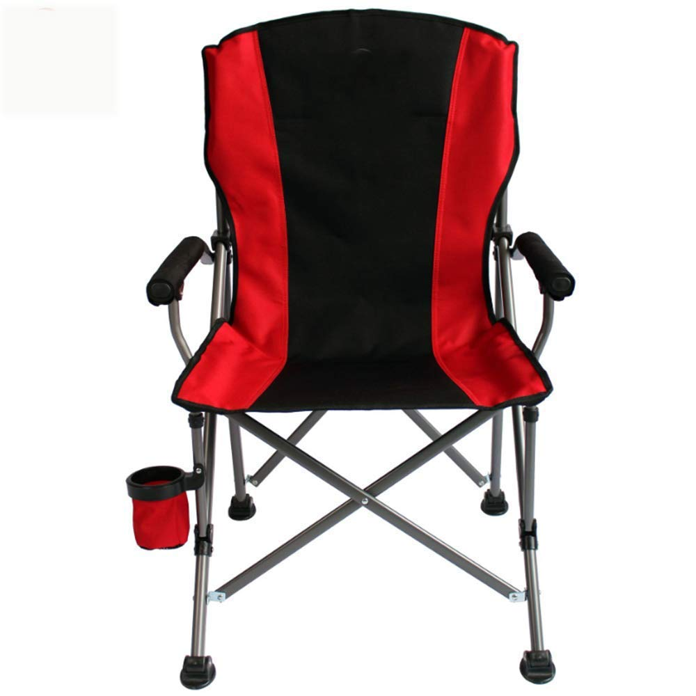 ZHANGJN 1-Seater Folding Fishing Ultralight Portable Chairs with Armrest for Festival, Beach, Hiking-red by ZHANGJN