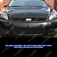 Fits 2006-2013 Chevy Impala Black Billet Grille Grill Insert Combo # C67920H