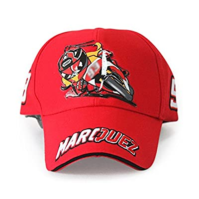 NEW Marc Marquez 93 MotoGP Motorcycle Racing Baseball Hat Peaked Cap 2 colours by SHZS