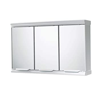 Gedy 3 Door Mirror Bathroom Cabinet White Gloss