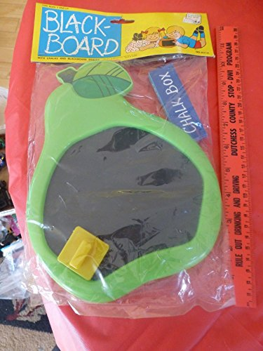 Vintage Kids Black Board play Toy Pear with chalk and eraser No 831A - For Woolworths Her Gifts