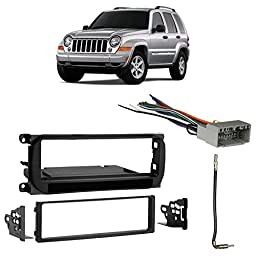 Fits Jeep Liberty 2002-2007 Single DIN Stereo Harness Radio Install Dash Kit