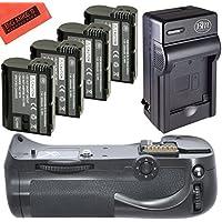 Battery Grip Kit for Nikon D800, D810 Digital SLR Camera Includes Vertical Battery Grip + Qty 4 Replacement EN-EL15 Batteries + Rapid AC/DC Charger + More!!
