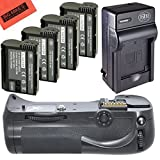 Battery Grip Kit for Nikon D800, D810 Digital SLR Camera Includes Vertical Battery Grip + Qty 4...