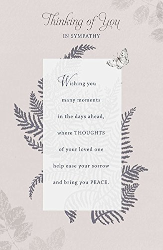 amazon com thinking of you sympathy difficult time new card uk
