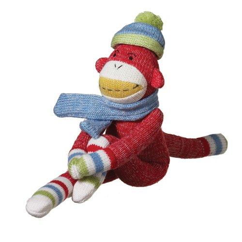 Sock Monkey Magnets - MVP Brands Gabby Plush Sock Monkey, Red, Small