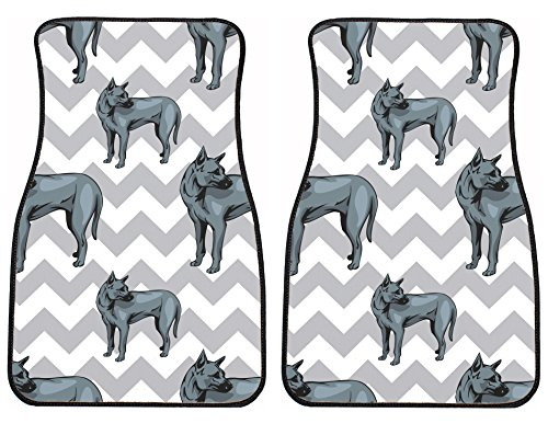 Style in Print Phu Quoc Ridgeback Dog Gray Zigzag Auto Ve...