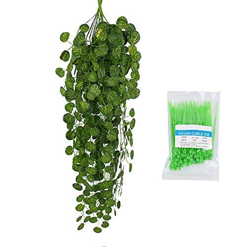 Artificial Flowers-Diadia Fake Flowers Hanging Vine Plant Leaves Bridal...