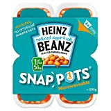 Heinz Reduced Sugar & Salt Baked Beanz in Tomato Sauce Snap Pots (4x200g) - Pack of 2