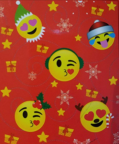 Emoji Expressions Christmas Theme Faces Red Plush Throw 50 x 60