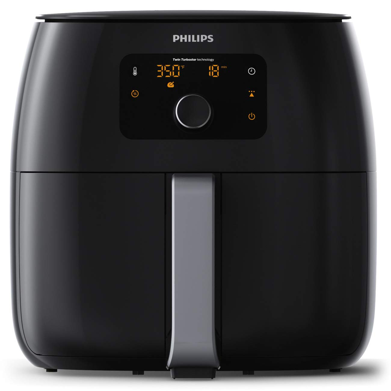 Philips Twin TurboStar Technology XXL Airfryer with Fat Reducer, Digital Interface 3lb/4qt- HD9650/96 by PHILIPS