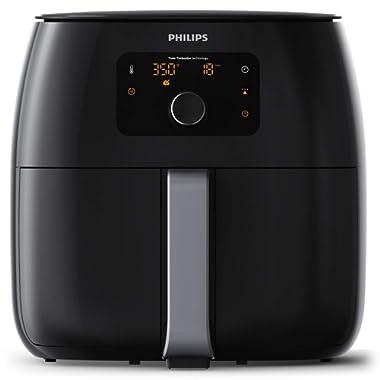 Philips Twin TurboStar Technology XXL Airfryer with Fat Reducer, Digital Interface 3lb/4qt- HD9650/96
