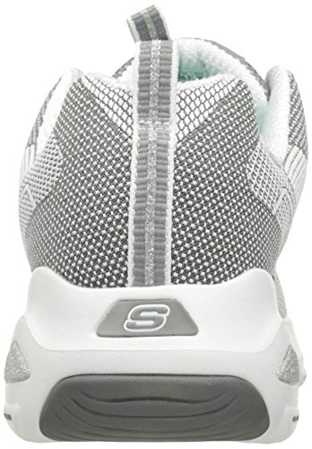 Gris Skechers White Mujer Grey Entrenadores D'Lite Ultra para q4O0xwX4r