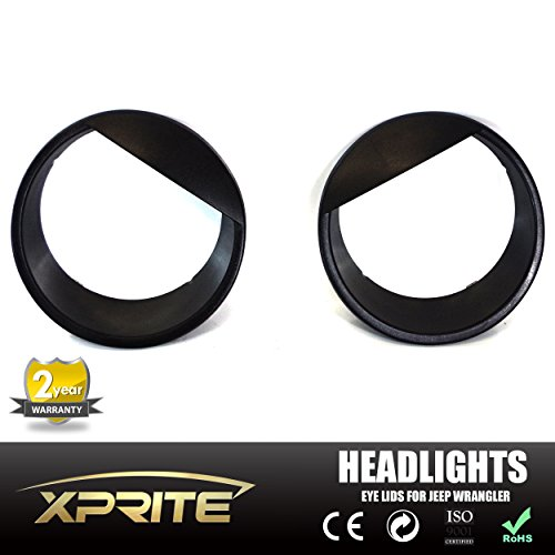 xprite-black-bezels-front-light-headlight-angry-bird-style-trim-cover-abs-for-jeep-wrangler-jk-jku-2