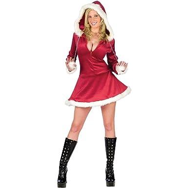 4f1f8c63bcd02 Amazon.com  Fun World Sexy Hooded Mrs. Santa Womens Costume  Clothing