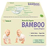 Bamboo Diapers Eco-Friendly Disposable Natural Hypoallergenic Soft w/Wetness Indicator Wicks Away Moisture to Keep Your Infant Toddler Dry & Happy Size 3-4 112ct for Sensitive Skin 15-28lb Value/Pack