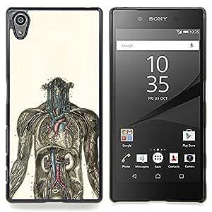 SKCASE Center / Funda Carcasa protectora - Anatomía Humana Gráfico;;;;;;;; - Sony Xperia Z5 5.2 Inch (Not for Z5 Premium 5.5 Inch)