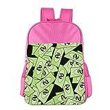 ColorSee Green Funny Us Dollar Daypack Kids School Bag Boys Girls Backpack