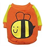 Pet Dog Spring Summer Cute Bee Coat Teddy Clothes Hoodie (XS(Back 6.7″ Chest 12.2″)) Review