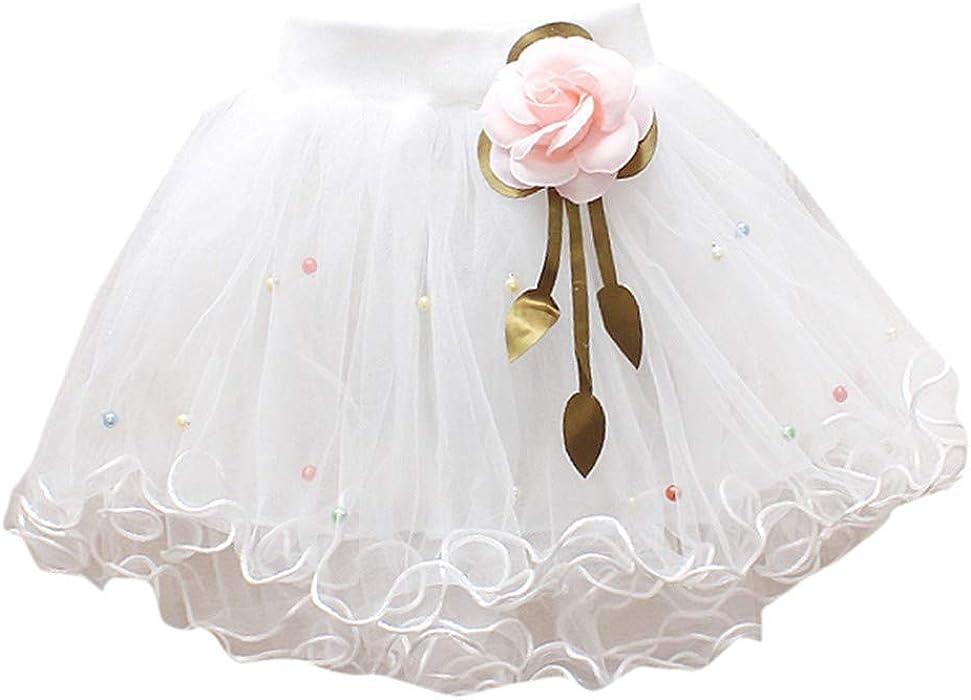 01d19ec654 Gusspower Niña Faldas de Tutu de Princesa Flower Girl Falda Tul Enaguas con  Volantes Fiesta Boda Cumpleaños Ceremonia Ropa de Danza Regalo para niñas y  ...